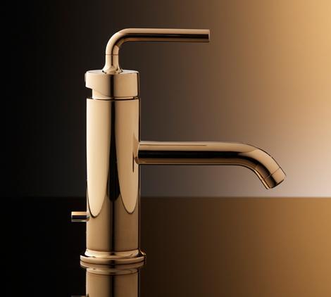 Kohler Purist Single Control Lavatory Faucet Polished Gold.