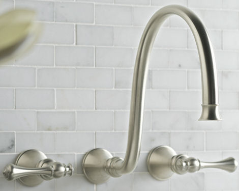 Beau Kohler Revival Faucet   The New Wall Mount Lavatory Faucet