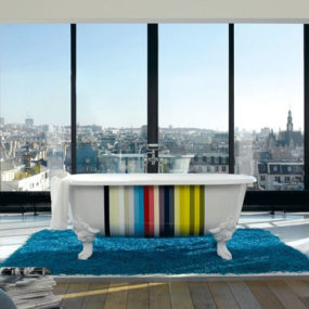 Kohler Royal freestanding tub – Limited Edition Stripes Design in cast iron