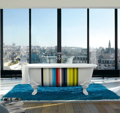 Kohler Royal freestanding tub - Limited Edition Stripes Design in ...