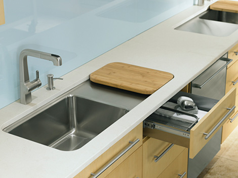 Kohler Wet Surface Kitchen Sink - new single-basin sinks Prologue