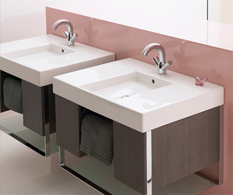 Wall Mounted Vanity Travese - new Kohler design for the way you live now