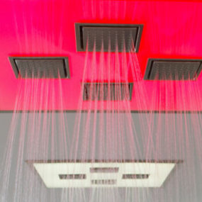 WaterTile Ambient Rain Overhead Showering Panel from Kohler