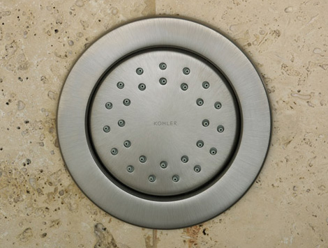 kohler watertile round brushed nickel