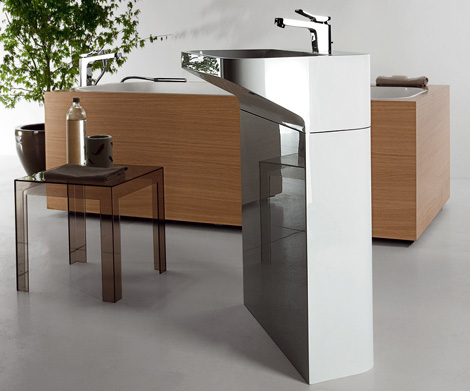 kositalia sink lab 2 3 Free Standing Sinks from Kos   Lab01 and Lab02 floor mount designs
