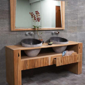 Sooth Your Senses with Natural Bathroom Vanities from Kudeta