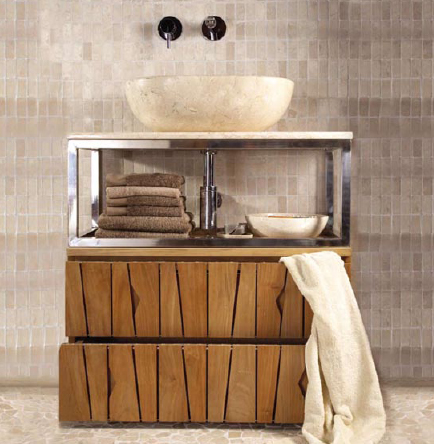 kudeta vanity 2 Sooth Your Senses with Natural Bathroom Vanities from Kudeta