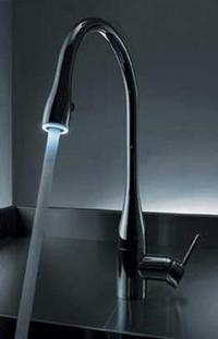 kwc eve light kitchen pullout faucet thumb New KWC Eve Faucet   Glowing Water!