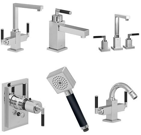New KWC Qbix-Art faucets - Art Deco influence