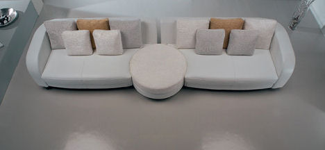 Living room sofa by La Meteora – Bellini Clock Sofa