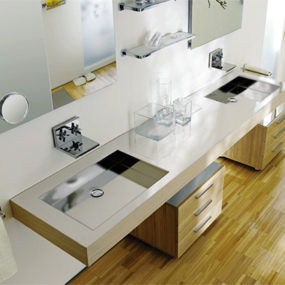 Contemporary Washbasin from Lacava – new Reflection & Fountain washbasins