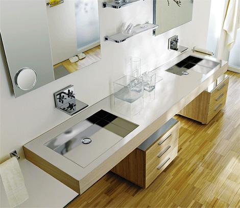 lacavareflectdouble Contemporary Washbasin from Lacava   new Reflection & Fountain washbasins