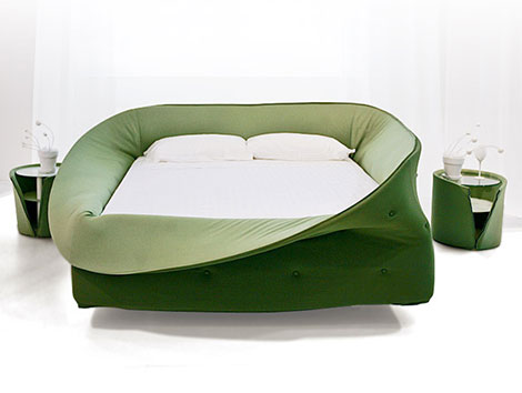 lago col letto green bed Cool Beds – Col Letto Wrapping Bed by Lago