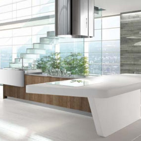 Laminate Kitchens by Arrital in gloss colors and wood finishes
