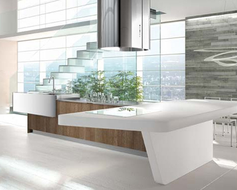 laminate kitchens arrital yoshi 1 Laminate Kitchens by Arrital in gloss colors and wood finishes