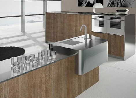 Laminate kitchens by arrital in gloss colors and wood finishes - Cuisine arrital ...