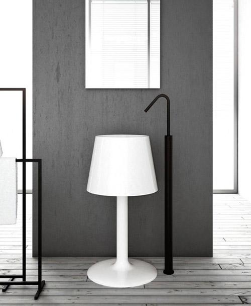 Lamp Shaped Washbasin– Light by ArtCeram