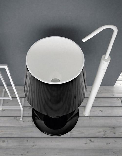 lamp shaped washbasin light artceram 2 Lamp Shaped Washbasin  Light by ArtCeram