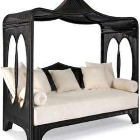 Wicker Daybed by Laneventure – canopied Zinnia from WeatherMaster line