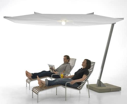 Large parasol umbrella by extremis kosmos for Outdoor furniture japan
