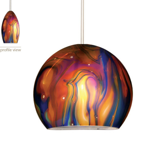 Large pendant lights with unusual shape new by wac lighting aloadofball Images