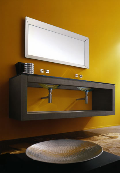 lasaidea iks console Moulded Glass Vanity from Lasa Idea   IKS