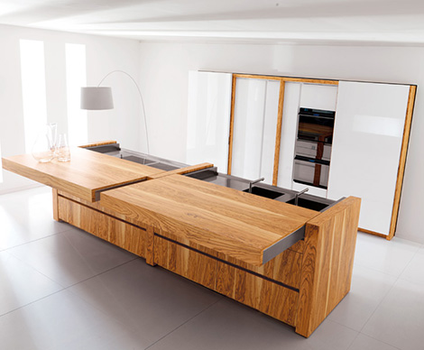Latest Kitchen Trends from Toncelli – 'Essential' kitchen with photoelectric cells and push button automation