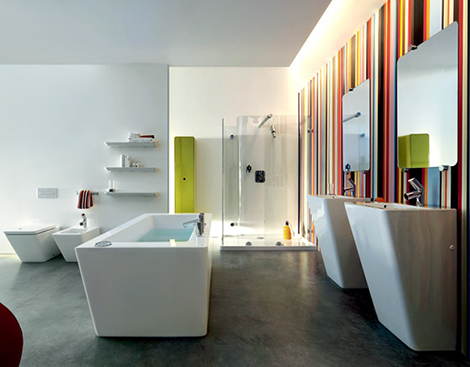 laufen dot bathroom Contemporary Bathroom Suite from Laufen   new dOt by Wiel Arets