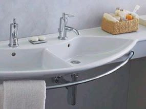 Palace Due sink from Laufen – the double sink console