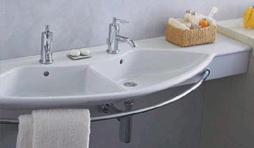 laufen palace due sink Palace Due sink from Laufen   the double sink console