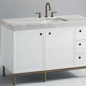 Kallista Vir Stil vanity by Laura Kirar – new white lacquer finish