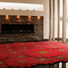 Layered Flower Motif Rugs by Piodao