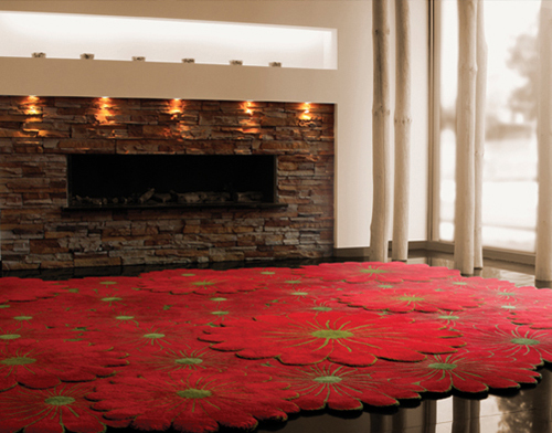 layered flower motif rugs piodao 1 Layered Flower Motif Rugs by Piodao