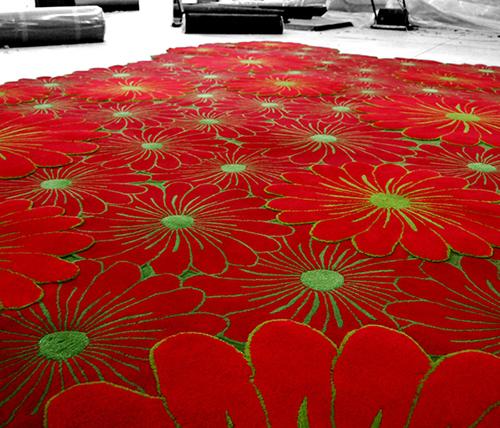 layered flower motif rugs piodao 4