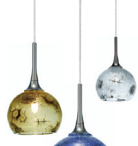 Mini-pendant from LBL Lighting – the Wired I crystal globe pendants
