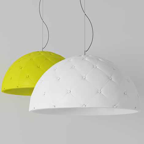 Leather Lamp Shades – contemporary lamp design by Enrico Zanolla
