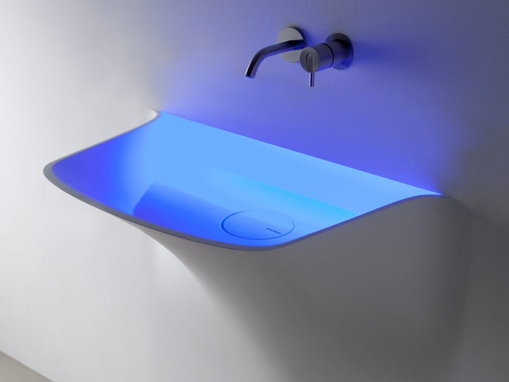 LED Illuminated Sink Breath from Antonio Lupi