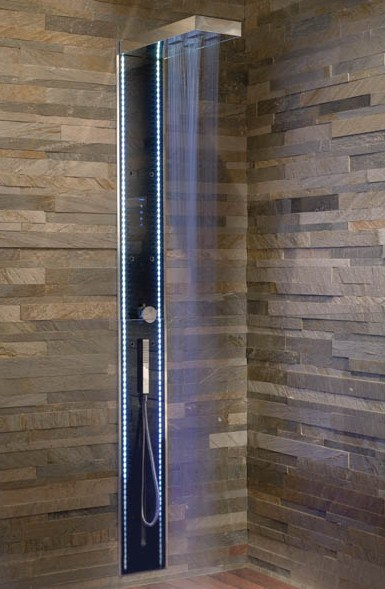 led lighted shower column megius waterwall 1 LED Lighted Shower Column by Megius – Waterwall