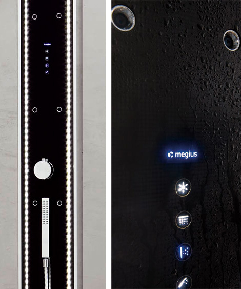 led lighted shower column megius waterwall 2 LED Lighted Shower Column by Megius – Waterwall