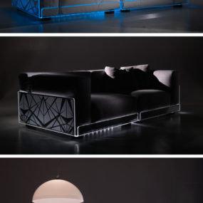 LED Lighted Sofa by Colico – change color with remote to fit your mood!