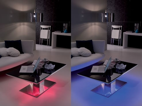 led lighted tables ozzio e motion flat 2 LED Lighted Tables by Ozzio   LED Lit Tables e Motion and Flat