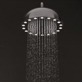 LED Showerhead Powered by Its Own Turbine – Dynamo Shower!