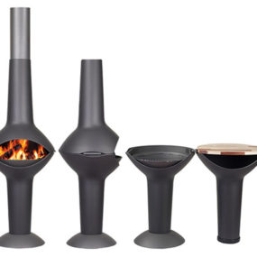 Outdoor Fireplace Turns into BBQ Grill – Lumos by Harrie Leenders