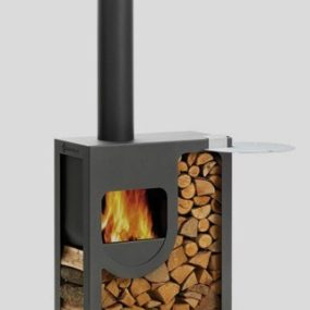 Compact Outdoor Stove from Harrie Leenders – Spot, beautiful contemporary stove