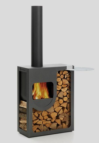 leenders outdoor stove spot 3 Compact Outdoor Stove from Harrie Leenders   Spot, beautiful contemporary stove