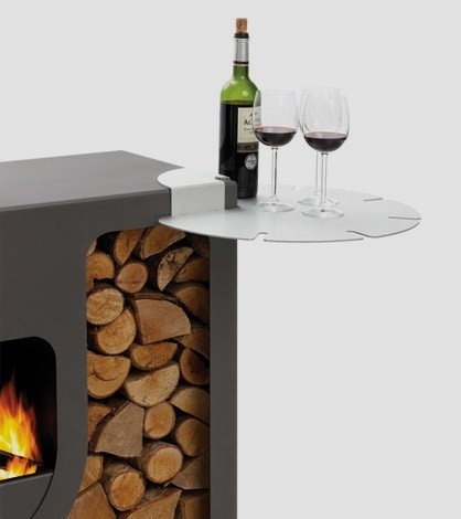 leenders outdoor stove spot 4 Compact Outdoor Stove from Harrie Leenders   Spot, beautiful contemporary stove