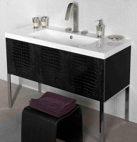 legnox couture bath vanity reptile detail Bath Furniture from Legnox   the new Couture vanities from AdattoCasa line