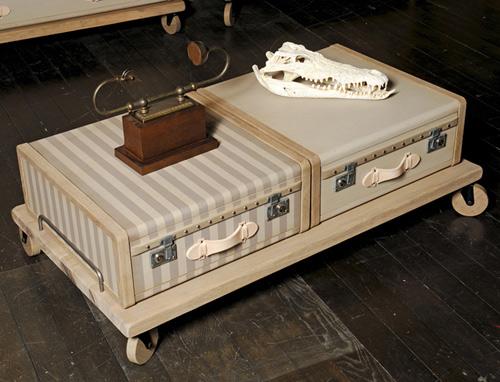 les valises furniture collection emmanuelle legavre el paris 1 Vintage Luggage Furniture by Emmanuelle Legavre