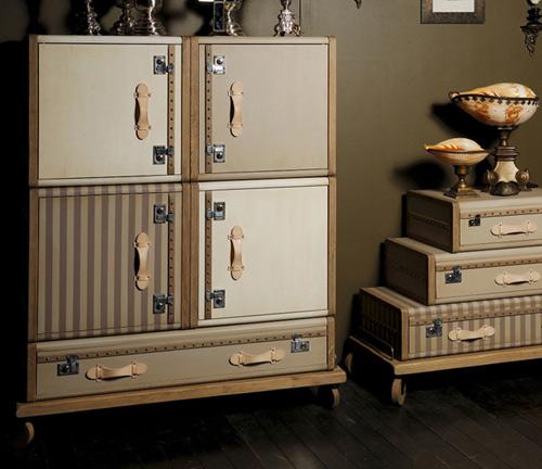 les valises furniture collection emmanuelle legavre el paris 2 Vintage Luggage Furniture by Emmanuelle Legavre