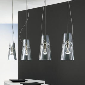 Contemporary Clear Glass Pendants from Leucos – the Kon Suspension Lights